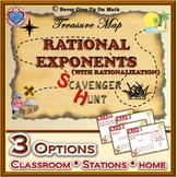 Scavenger Hunt {School/Home/Stations} - Rational Exponents