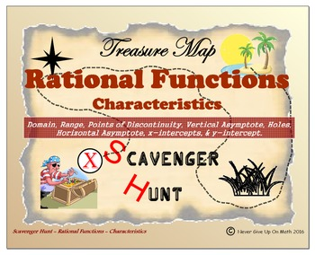 Scavenger Hunt {School/Home/Stations} - Rational Functions - Characteristics