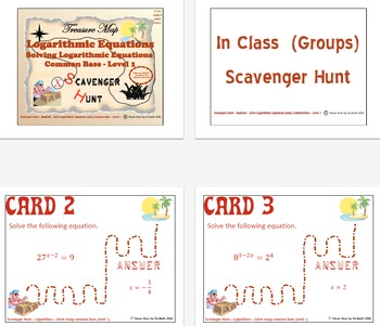Scavenger Hunt {School/Home/Stations} - Solve Exponential Functions Level 1