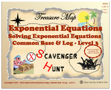 Scavenger Hunt {School/Home/Stations} - Solve Exponential Functions Level 3