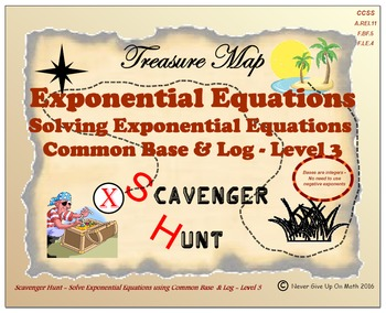 Scavenger Hunt {School/Home/Stations} - Solve Exponential