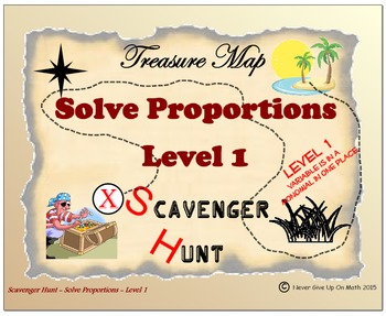 Scavenger Hunt {School/Home/Stations} - Solving Proportion