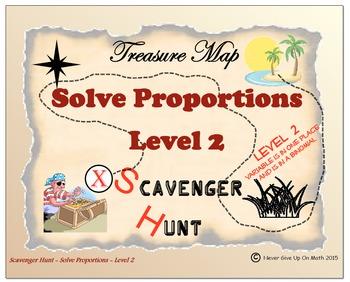 Scavenger Hunt {School/Home/Stations} - Solving Proportions Level 2