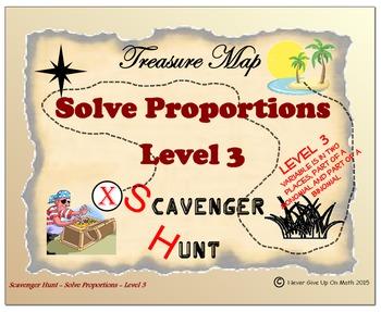 Scavenger Hunt {School/Home/Stations} - Solving Proportions Level 3