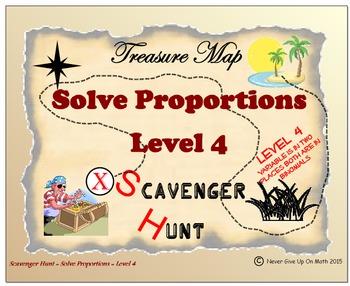Scavenger Hunt {School/Home/Stations} - Solving Proportion