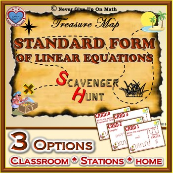 Scavenger Hunt {School/Home/Stations} - Standard Form of Linear Equation