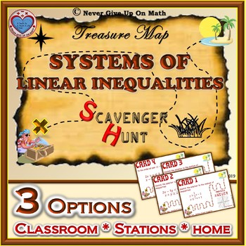 Scavenger Hunt {School/Home/Stations} - Systems of Linear Inequalities