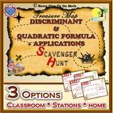 Scavenger Hunt {School/Home/Stations} - The Discriminant & The Quadratic Formula