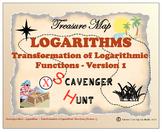 Scavenger Hunt {School/Home/Stations}-Transformation of Logarithmic Function -L1