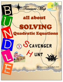Scavenger Hunt {School/Home/Stations} BUNDLE-SOLVING QUADRATIC EQUATION 50%+ OFF