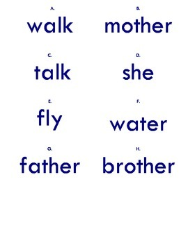 Scavenger Hunt Sight Words #2