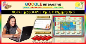 Scavenger Hunt: Solve Absolute Value Equations (Google Interactive & Hard Copy)