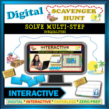 Scavenger Hunt: Solve Multi-Step Inequality (Google Interactive & Hard Copy)