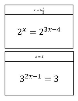 Scavenger Hunt - Solving Exponential Equations