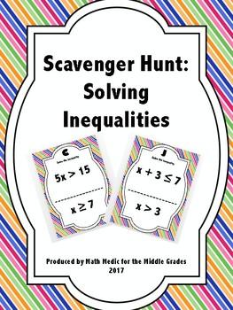 Scavenger Hunt: Solving Inequalities