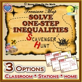 Scavenger Hunt - Solving One-Step Inequalities