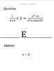 Scavenger Hunt:  Solving Rational Equations