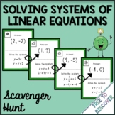 Systems of Linear Equations Activity - Scavenger Hunt