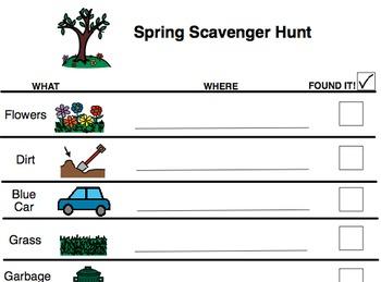 Scavenger Hunt- Spring or Summer