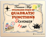 Scavenger Hunt - Standard Form of Quadratic Functions - Advanced