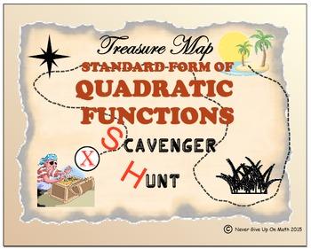 Scavenger Hunt - Standard Form of Quadratic Functions - Advanced