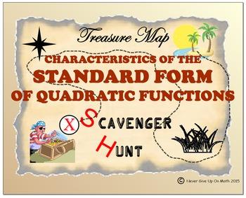 Scavenger Hunt {School/Home/Stations} - Standard Form of Quad Func - Basics