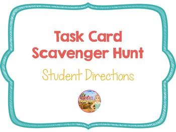 Scavenger Hunt Student Directions