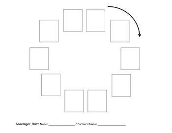 Scavenger Hunt Student Worksheet