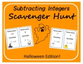 Scavenger Hunt: Subtracting Integers - Halloween Edition!