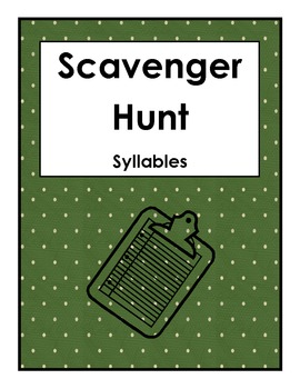Scavenger Hunt Syllables