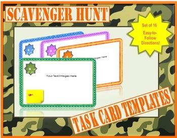 Scavenger Hunt Task Card Templates