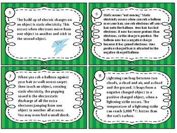 Scavenger Hunt Task Cards Electricity