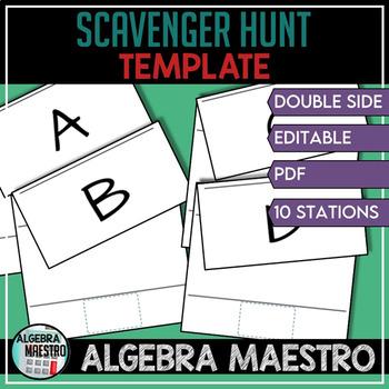 Scavenger Hunt Template by Creative Math Nerd | Teachers Pay Teachers