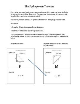 Scavenger Hunt:  The Pythagorean Theorem