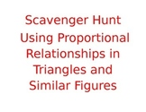 Scavenger Hunt Using Proportional Relationships in Triangles
