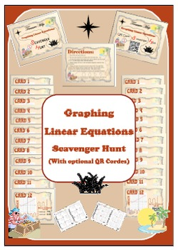Scavenger Hunt (With Optional QR Codes) - Graphing Linear