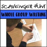 Scavenger Hunt Writing Activity