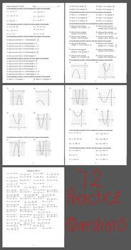 Scavenger Hunt - Writing Quadratic Functions