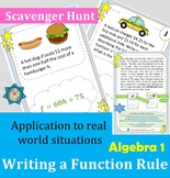 Scavenger Hunt Writing a Function Rule Practice