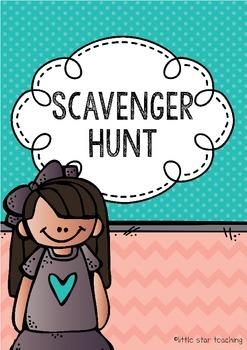 Scavenger Hunt (back to school activity)