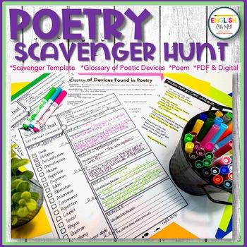 Poetry Scavenger Hunt for ANY POEM!