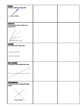 Scavenger Hunt for Lines and Angles