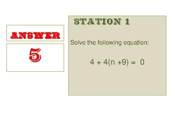 Scavenger Hunt for Math Equations