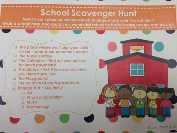 Scavenger Hunt for Open House