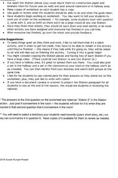 Scavenger Hunt for Summarizing (RL/RI 6.2)
