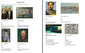 Scavenger Hunt for the Art Institute of Chicago