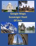 Scavenger Hunt of Asia with Google Maps Digital