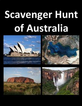 Scavenger Hunt of Australia using Google Maps