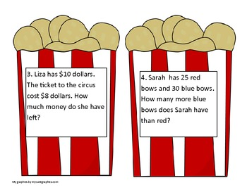 Scavenger Hunt with Circus theme (2nd Grade Word Problems)