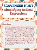 Scavenger Hunt_Simplifying Radical Expressions